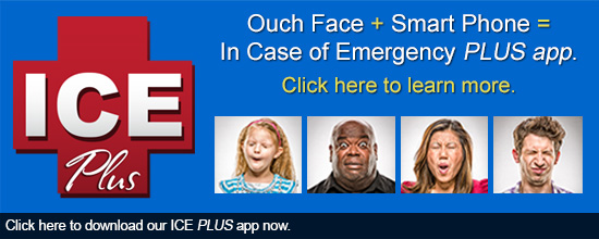 Ouch Face + Smart Phone = In Case of Emergency PLUS app