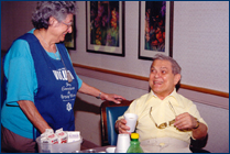 Image of a volunteer and patient